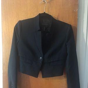 BCBG cropped blazer in black, size xxs